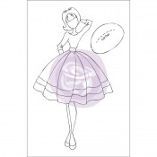 (Pre-Order) Mixed Media Doll Cling Stamp - Audrey